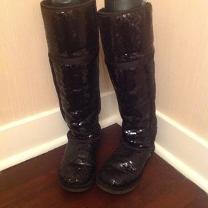 Ugg Sequin Tall Button Shearling Lined Boots
